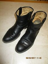 Men's FRYE Black Full Leather Pull On Vintage (?) Ankle Boots Sz 11 B Narrow EC