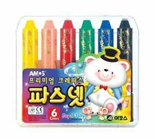 Premium Oil Pastel AMOS Pasnet Classic 6 Colors Non-toxic Silky Crayon