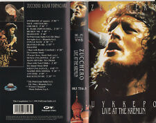 ZUCCHERO SUGAR FORNACIARI rara VHS ORIGINALE Live at the Krem 1991 MADE in ITALY