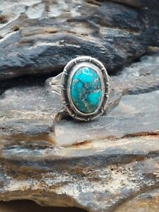 Old Pawn Sterling Silver Turquoise Ring Navajo Native Southwestern Tribal Lot