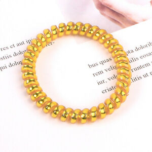 1Pcs Telephone Wire Elastic Gum Rubber Bands Traceless Girls Ponytail Hair Ring