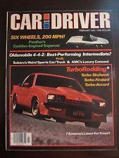 Car and Driver Magazine February 1978 Oldsmobile 442 Firebird (I) (II) A1 Y4