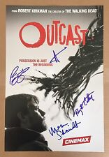 Patrick Fugit & Cast SIGNED Outcast Poster PHOTO PROOF Cinemax TV Walking Dead