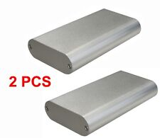2 PC Silver Aluminum Project Box Enclosure Case Electronic DIY 130x70x24mm-Small