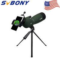 SVBONY SV28 25-75x70mm Angled Zoom Spotting Scope MC Waterproof+Phone Adapter US