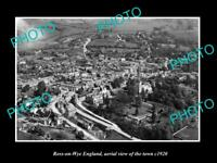 OLD LARGE HISTORIC PHOTO OF ROSS ON WYE ENGLAND AERIAL VIEW OF THE TOWN c1920 2