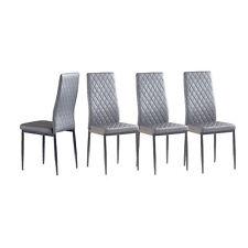 4Pcs Modern Dining Chair Velvet Leisure Seat Backrest Dining Room Furniture Gray