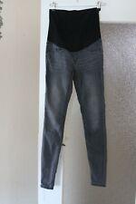 H&M MAMA-Umstandshose mit Bauchband grauschwarze Jeans Super Skinny Gr. 36, (2)