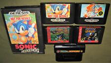 Sonic the Hedgehog 1 2 3 & Knuckles 3D Blast (Sega Genesis) Lot of 5