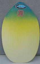 "ZAP Skimmer Skimboard Skim Board Yellow Blue 31.75"" x 20.75"" Ocean Beach Surf"