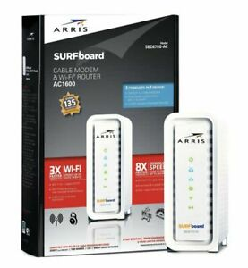 Arris Surfboard SBG6700AC Docsis 3.0 Cable Modem/ Wi-Fi AC1600 Router White -K1