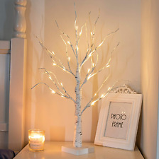Lighted Birch Tree Lamp Living Room Bedroom Decoration Battery Powered Timer LED