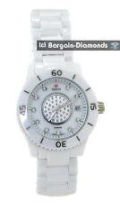 ladies Venus diamond .15 carat white ceramic calendar fashion Red Carpet Watch
