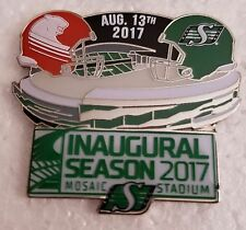 Cfl Saskatchewan Roughriders 2017 Inaugural Season August 13th Lapel Pin