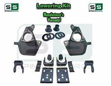 """2014+ Silverado Sierra 3"""" / 6"""" Drop Lowering KIT Shackles STAMPED / ALUM ARMS"""