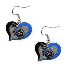 Tennessee TITANS NFL Swirl Heart Dangle Earrings