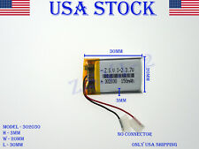 3.7V 150mAh 302030 Lithium Polymer LiPo Rechargeable Battery (USA STOCK)