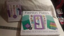Kahootz Fashion Plates Design Set Dress Clothing Designer Kit plus extra set