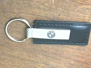 Vintage BMW Leather Keychain In Original Box