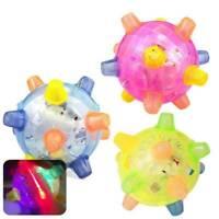 Jumping Flashing Dog Ball LED For Pets Dogs Toys Joggle Color Vibrating Cha L5V0
