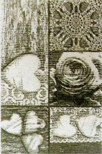 Tappeto 120 x 180 in ciniglia con antiscivolo cuore shabby grigio