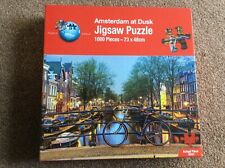 PUZZLE WORLD 1000 Piece Jigsaw Puzzle 'Amsterdam at Dusk' - COMPLETE