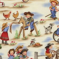 FQ - LIL COWGIRLS - MICHAEL MILLER COTTON FABRIC GIRLS childrens