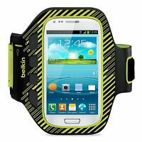 Belkin Samsung Galaxy S3 Mini EaseFit Plus Sports Armband Case/Cover Lime/Black