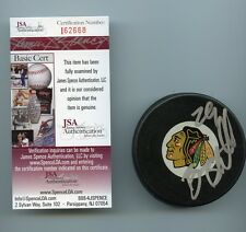 BRIAN BICKELL CHICAGO BLACKHAWKS SIGNED HOCKEY PUCK JSA COA I62668
