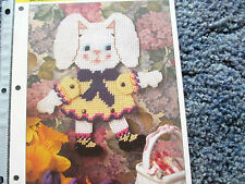 Aa Rabbit Wall Hanging In Plastic Canvas