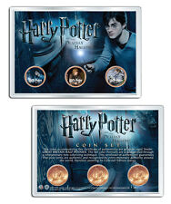 Harry Potter Uk Great Britian Half Penny 3 Coin Set Deathly Hallows