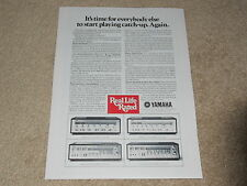 Yamaha CR-2020,CR-1020, 820,620 Receiver Ad, 1 pg, Article, 1977