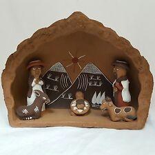 Allpa Clay Peruvian Nativity Scene Made In Peru
