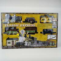 Classic Western Express Locomotive Train Set with Sound 29 pc New