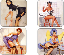 Pin-up Girls Mug coaster set pin up girls drink coaster