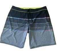 Mens plus size 42  boardies boardshorts  board shorts Grey stripey Target NEW