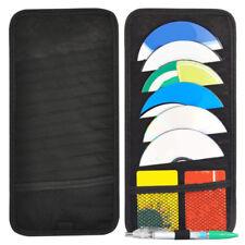 Car Sun Visor 12 Disc CD DVD Card Case Storage Holder Organizer Pocket Bag Black