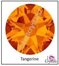 TANGERINE ORANGE 144 pieces 34ss 7mm Swarovski Crystal 2058 Flatback Rhinestone