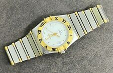 Omega Constellation 18k/SS Women Quartz Watch 27mm Swiss Made Used