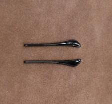 Black PVC  Reading Eye Glasses Sunglasses Temple Tip Ear Hooks diy repair