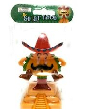 Solar Powered Dancing Toys Mariachi Taco Man Barista Bobblehead Toys New Rare