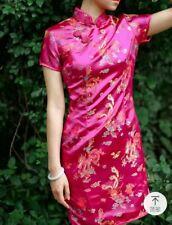 Handmade embroidered multi coloured silk blend Chinese folk dress