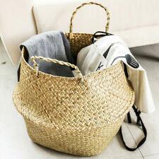 Storage Basket Rattan Straw Wicker Folding Flower Pot SeagrasssGardens Plan