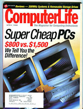 Computer Life Magazine April 1998 Super Cheap PCs EX 062716jhe