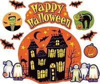 Set 10x aufkleber sticker halloween auto motorrad deko macbook happy fledermaus