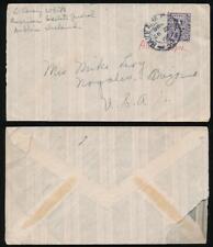IRELAND FANCY ENVELOPE 9d SINGLE FRANKING 1947 to USA