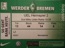TICKET UEFA EL 09/10 Werder Bremen - Austria Wien