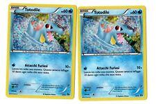 2 Carte POKEMON Totodile HOLO 5/12 PROMO CARD NUOVE 2015 MCDONALDS