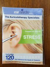 New EAR SEED STRESS KIT 120 PC KIT WITH TWEEZER