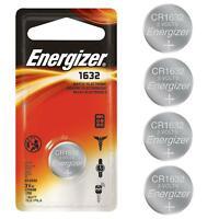 4 Pack Energizer CR1632 3V Lithium Battery CR 1632 Long Life Long Lasting Coin